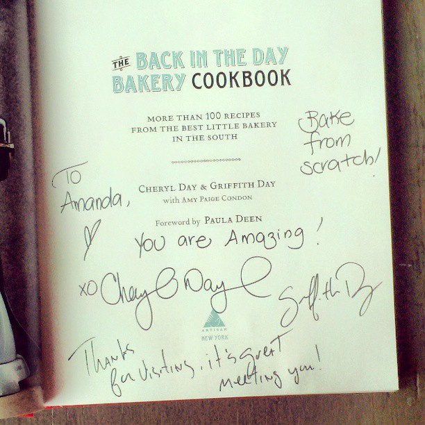 autographed cookbook