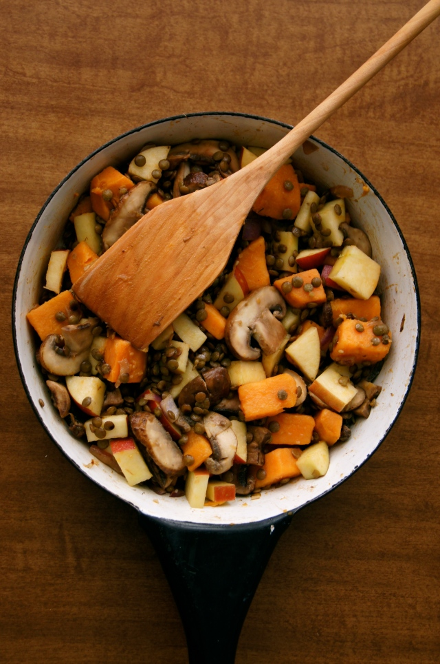 sweet potato and lentil salad
