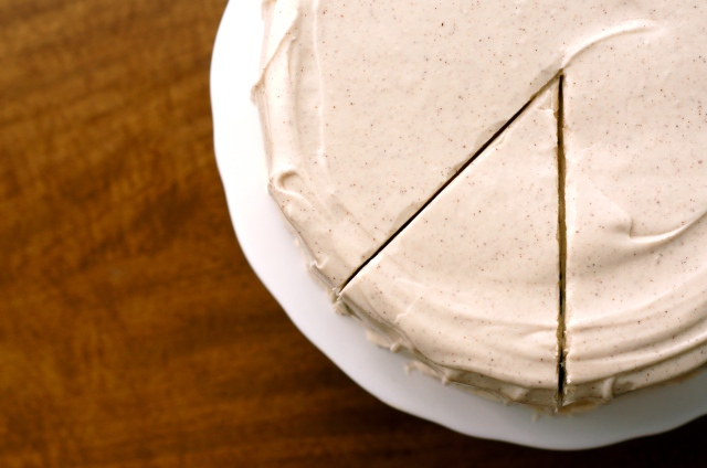 browned butter banana layer cake