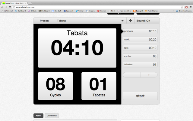 What is a tabata?
