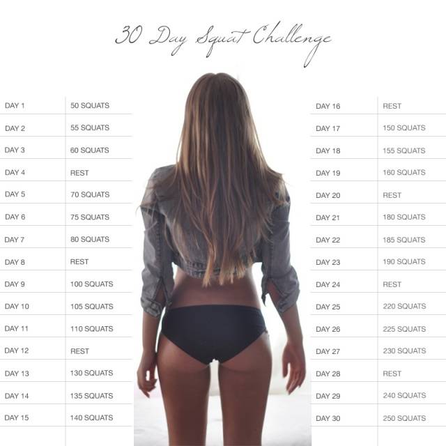 30 day squat challnege